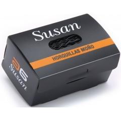Horquilla invisible Susan negra 800 uni.