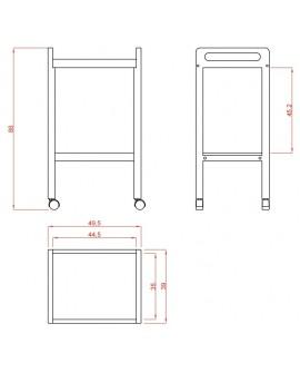 Carrito madera Spa 2 estantes Basic