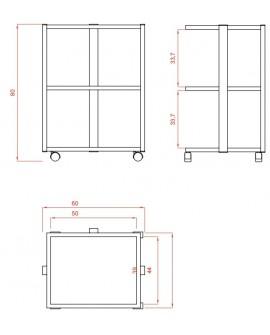 Carrito Estética 3 estantes Facile