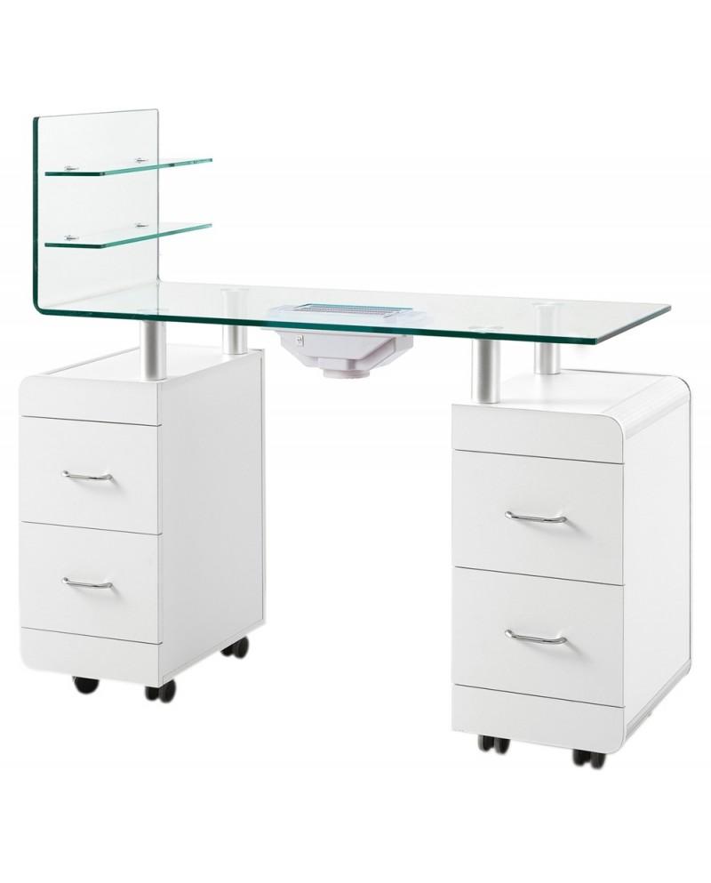 mesa de manicura vidrio