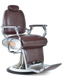 Sillónes de barberia estilo vintage marron