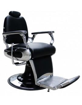 Sillón de barbero negro vintage