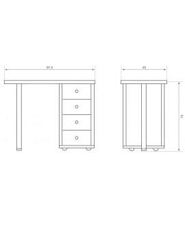 Mesa de manicura de madera.