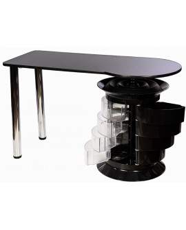 mesas de manicura cajones negra