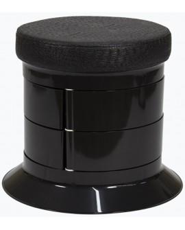 taburete pedicuras negro cajones