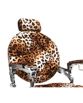Sillón Salon Barber cromo Leopardo