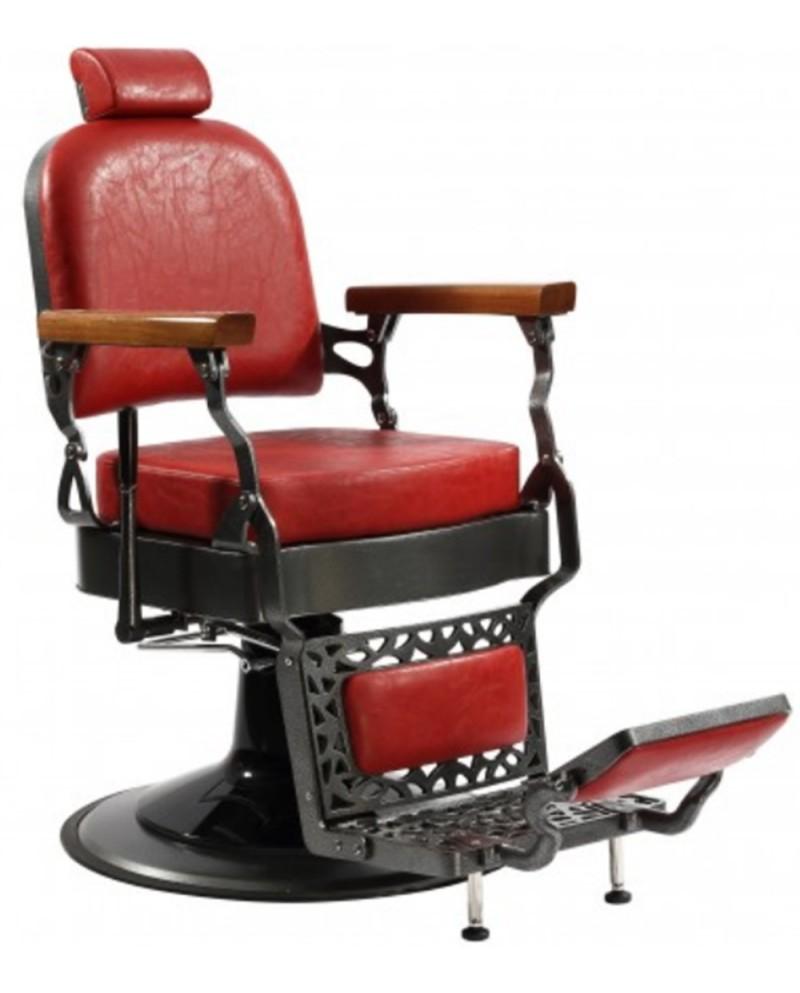 sillones de barbero rojos
