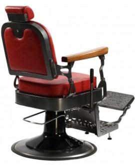 silla de barbero roja