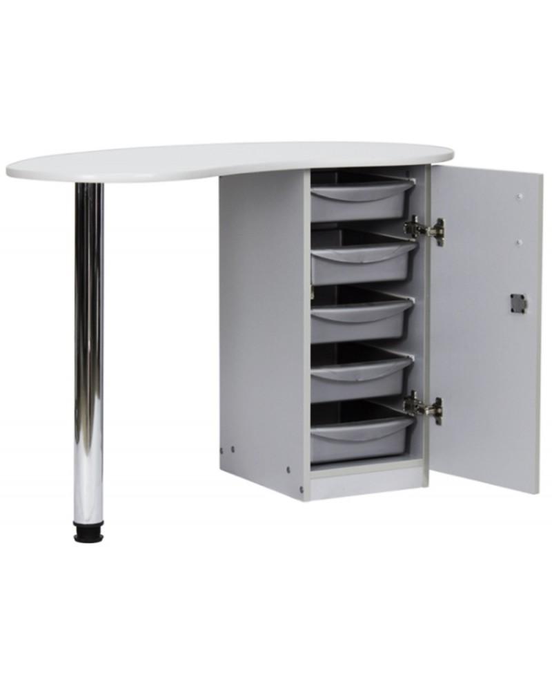 Mesa para manicuras gris