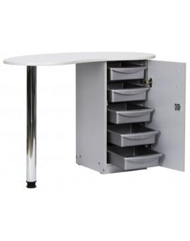 mesa de manicuras gris