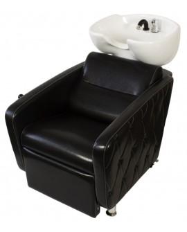 Lava cabezas Cubo Negro Liso Capitone