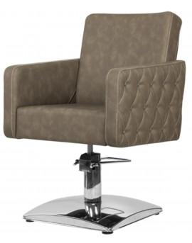 sillón peluqueria marron