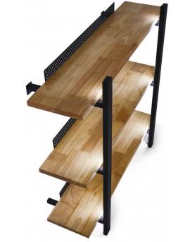 estanterias madera barbero