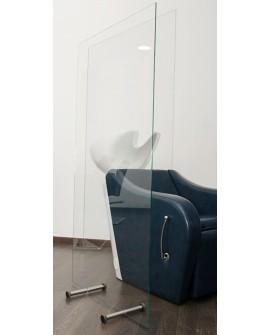 Mampara vidrio para tocador o lavacabezas