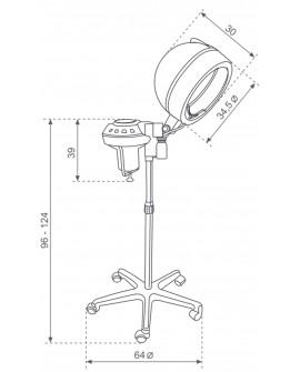 Vapor para tratamientos capilares pie