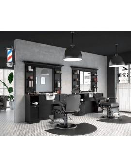 tocador lavacabezas barbero vintage