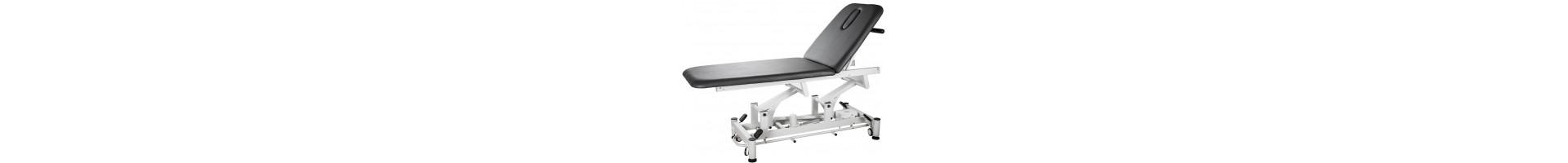 Camillas especiales de fisioterapia | Camillas eléctricas de masaje osteopatia en madera o metalicas